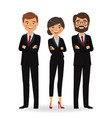 business people in business suits vector image