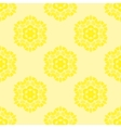 Creative Ornamental Seamless Yellow Pattern vector image