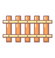 fence old icon cartoon style vector image