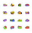 house icons set cartoon vector image