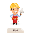 male builder with a trowel vector image