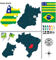 Map of Goias vector image