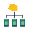 shared archived folders data center related vector image