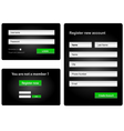 login and register web form vector image vector image