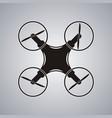 drone icon black logo element top view vector image