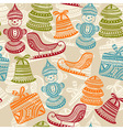 seamless holiday winter pattern vector image vector image