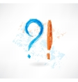 Question answer grunge icon vector image