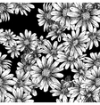 Vintage seamless monochrome pattern with daisies vector image vector image