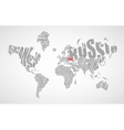 Text world map vector image