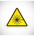 Laser Hazard warning sign vector image