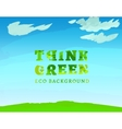 01 Think Green Background vector image