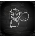 Hand Drawn Talking Monster vector image