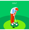 Golf 2016 Summer Games 3D Isometric vector image vector image