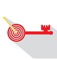 Archery board make key vector image