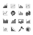 Business data analytics icons Measurements and vector image