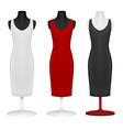 Classic women plain dress template vector image