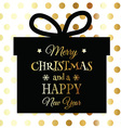 gold and black christmas background 3110 vector image