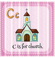 Letter C is for church vector image