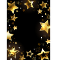 Frame with Gold Stars vector image vector image