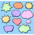 Set of comic bubbles Blank empty speech bubbles vector image