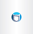 security shield logo icon design vector image