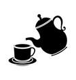 cute teapot kitchenware vector image