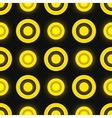 Black and yellow colored retro seamless pattern vector image