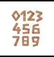 Wooden Digits Numbers vector image