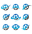 Soccer Ball logo Icons vector image
