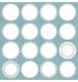 lacy doilies big set vector image