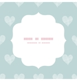 White lace hearts textile texture white frame vector image