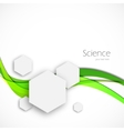 Science background vector image vector image