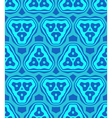 Psychedelic abstract colorful blue cyan seamless vector image