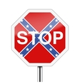 Ban on the Confederate flag vector image
