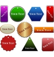 decorative labels collection vector image