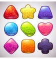Funny jelly figures vector image