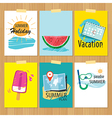 set of hand drawn summer cardsLabel of vacation vector image vector image