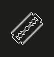 blade razor icon on black vector image