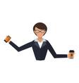 business woman office job stress work vector image