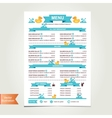 Cafe menu for kids template design vector image