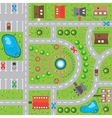 Game background rural landscape the top view vector image