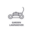 garden lawnmover line icon outline sign linear vector image