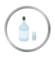 Gin icon in cartoon style isolated on white vector image