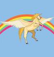 golden unicorn vector image