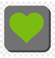 Love Heart Rounded Square Button vector image