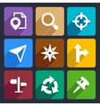 Map GPS and Navigation Flat Icons Set 45 vector image