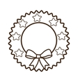 merry christmas bow decoration vector image