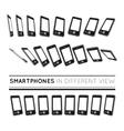 Smartphones in different view vector image