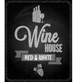wine menu design chalkboard background vector image