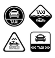 Taxi cab set black buttons vector image vector image